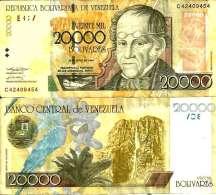 Venezuela 20 000 BOLIVARES (2004) Pick 86b TTB (VF) - Venezuela
