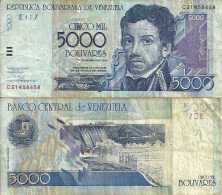 Venezuela 5000 BOLIVARES 2004 - Pick 84c TB+ (F) - Venezuela