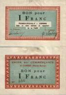 CORRE Bon Pour 1 Franc P 70/11 SPL - Bonds & Basic Needs
