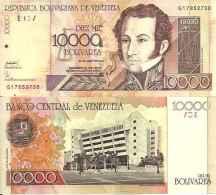 Venezuela 10 000 BOLIVARES (2002) Pick 85e NEUF UNC - Venezuela