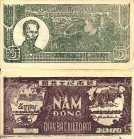 Viêt Nam 5 DÔNG 1948 - Pick 17 TTB (VF) - Vietnam