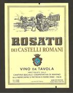 ITALIA - Etichetta Vino ROSATO CASTELLI ROMANI Cantine COOP. MARINO Rosato Del LAZIO - Carretto Con Cavalli - Roséwijn