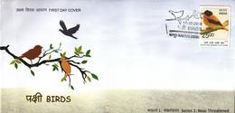 India 2016  Birds  Black And Orange Flycatcher  Cover  # 95077   Inde Indien - Songbirds & Tree Dwellers