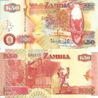 Zambie - Zambia 50 KWACHA (2007) Pick 37f SUP+ - Zambia