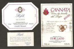 ITALIA - 2 Etichette Vino REFOLO E C'ANNATA Cantine CONS.VELLETRI E CO.VI.LAZIO Rosato Del LAZIO - Pink Wines