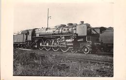 ¤¤  -  PARIS  -  Carte-Photo  -  LA VILLETTE  -  Locomotives EST N° 241 - 041  -  Chemin De Fer  -  ¤¤ - Arrondissement: 19