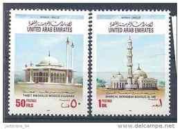 1993 EMIRATS ARABES UNIS 388-89** Mosquées - United Arab Emirates