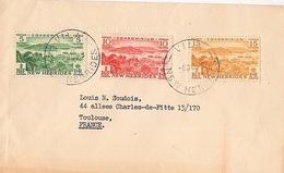 COL-L65 - NOUVELLES HEBRIDES N° 144/46 Sur Lettre Pour Toulouse - English Legend
