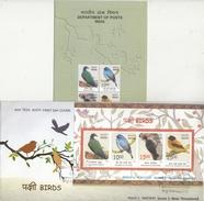 India  2016   Birds  Flycatcher  Woodpecker  Pigeon  4v  S/S  FDC + Plain Brochure  # 77040  D  Inde Indien - Songbirds & Tree Dwellers