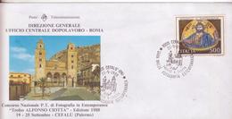 167-Storia Postale-Marcofilia-Tema:Fotografia-Annullo Speciale Cefalù-Palermo-Gara Naz.le Fotografia Estemporanea - 1981-90: Storia Postale