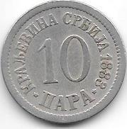 *serbia 10 Para  1883 Km 19 Fr+ - Serbie