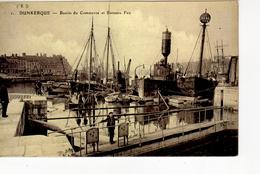Dunkerque Bassin Du Commerce Et Bateau Feu ( écluse ...; Repro De ELD - Dunkerque