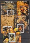 GUYANA Michel Bloc 71-75 – (0) - Christmas 89 – Rubens – Tiziano - Dürer - Guyane (1966-...)