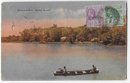 Cpa Bon Etat ,amérique ,antilles ,île Caïmans , Tmbres Courrier Verso ,cachet British Quiana  Demerara  River  Rare - Caïman (Iles)