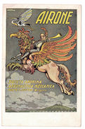 CARTOLINA PUBBLICITARIA AIRONE  SOCIETA' ANONIMA AERONAUTICA MECCANICA Illustratore ANTONIO RUBINO - Pubblicitari