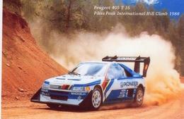 Peugeot 405 T16   -  Pikes Peak Hillclimb 1988  -  Pilote: Ari Vatanen   -  CP - Rallyes