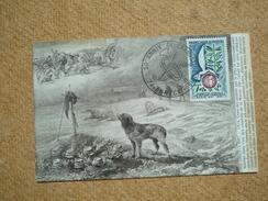 Carte Postale Affranchie Oblitération Commémorative Annecy 50 ème Anniversaire De L'armistice  1918 - Commemorative Postmarks