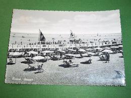 Cartolina Riccione - Spiaggia 1957 #3 - Rimini