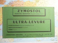 Laboratoires Biocodex Zymostol/Ultra-levure 3 Couleurs Vert / Jaune / Rouge - Buvards, Protège-cahiers Illustrés