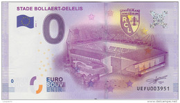 BILLET TOURISTIQUE 2016 FOOTBALL LENS STADE BOLLAERT DELELIS - EURO