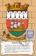 D30264 CARTE MAXIMUM CARD 1943 FRANCE - HERALDIQUE COAT OF ARMS NANTES CP ORIGINAL - 1940-49