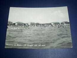 Cartolina Miramare Di Rimini - La Spiaggia Vista Dal Mare 1955 - Rimini