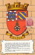 D30266 CARTE MAXIMUM CARD FD 1942 FRANCE - HERALDIQUE COAT OF ARMS DIJON CP ORIGINAL - 1940-49