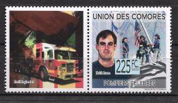 Comoros Keith Roma Fire Engine Firefighter 9/11 New York 1v Stamp Michel:2261 3 - Non Classificati