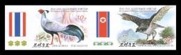 North Korea 2015 Mih. 6203B/04B Fauna. Birds (imperf) (joint Issue North Korea-Thailand) MNH ** - Korea, North