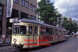 Reproduction D'une Photographie D'un Tramwayligne 306 Avec Publicité Jagermeilter à Bochum En Allemagne En 1993 - Repro's