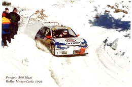 Peugeot 306 Maxi  -  Rallye Monte-Carlo 1998   - Pilote: Gilles Panizzi  -  CPM - Rallyes