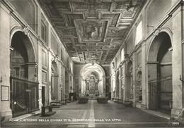 Y3672 Roma - Chiesa Di San Sebastiano Sulla Via Appia - Interno / Non Viaggiata - Churches