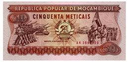 MOZAMBIQUE 50 METICAIS 1986 Pick 129b Unc - Mozambique