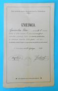 VARAZDIN - IZVJESNICA .. OBJE GRADSKE PUCKE DJECACKE SKOLE  - Old Document From 1900. * Croatia Kroatien Croazia Croatie - Diploma & School Reports