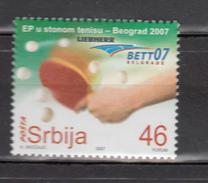 Serbia 2007,1V,tabletennis,tafeltennis,MNH/Postfris(A3341) - Tafeltennis