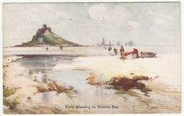 Early Morning In Mount's Bay, Cornwall, 1928 - Dennis Postcard - St Michael's Mount