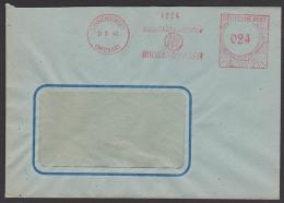 """SCHWENNINGEN NECKAR Absender-Freistempel 1948 """"Qualitätszähler Irion & Vosseler"""" AFS Mit Posthorn - Zona Anglo-Americana"""