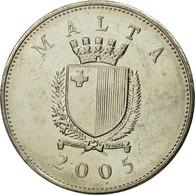 Malte, 25 Cents, 2005, Franklin Mint, FDC, Copper-nickel, KM:97 - Malte