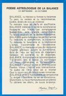 Astrologie        H20        Balance ( Poème Martine Bogart ) - Astronomy