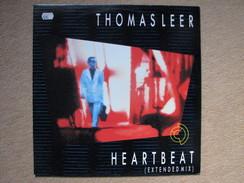 THOMAS LEER - HEARTBEAT - MAXI (ARISTA RECORDS 1985) - 45 Toeren - Maxi-Single