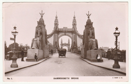 Hammersmith Bridge, London, 1909 - Hunt RP Postcard - Other