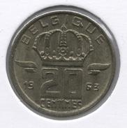 20 Cent 1963 Frans * BOUDEWIJN * - 01. 20 Centimes