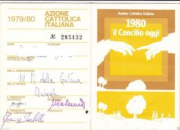 AZIONE CATTOLICA ITALIANA -  TESSERA  ANNO 1980 - OTTIME CONDIZIONI - Vecchi Documenti