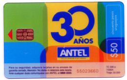 Uruguay TC 330a 30 Años De Antel - Tarjeta Transparente - - Uruguay
