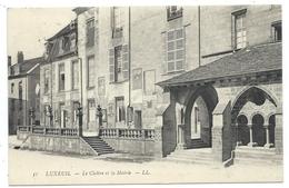 CPA - LUXEUIL, LE CLOITRE ET LA MAIRIE - Haute Saône 70 - Circulé 1913 - Luxeuil Les Bains