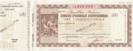 BUONO POSTALE FRUTTIFERO - NON EMESSO - CON MATRICE  - 500.000 LIRE - Azioni & Titoli