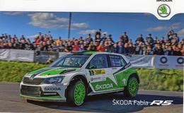 Skoda Fabia R5  -  European Rally Championship 2013  -  Jan Kopecky/Pavel Dresler   - Carte Promo - Rallyes