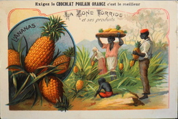 CHROMO - Chocolat POULAIN ORANGE - La Zone Torride Et Ses Produits - N°5 - L'Ananas - En TBE - Poulain
