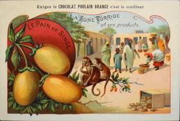 CHROMO - Chocolat POULAIN ORANGE - La Zone Torride Et Ses Produits - N°17 - Le Pain De Singe - En TBE - Poulain