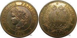 France - IIIe République - 5 Centimes Cérès 1890 A - SUP+ - Fra2194 - Francia